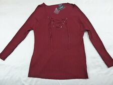 CITY CHIC L 20 NWT RRP $89.95 JUMPER CRISS CROSS RUBY