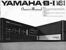 Yamaha B-1 Amplifier Owners Manual