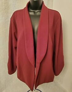 Maurices Womens Burgundy Open Blazer Top Blouse Size 2 2X