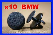 10 BMW BONNET HOOD TRUNK Boot isolamento in Plastica Rivetto Clip