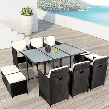 Polyrattan Gartenmöbel Essgruppe Sitzgruppe Rattan Gartenset Lounge Cube ArtLife