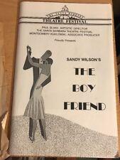 THE BOY FRIEND, Lobero Theatre Program, May 24, 1987, Ticket Stub Inside