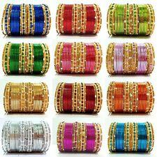 New Fashion GoldTone Colored Indian Traditional Kids Bangles 24pcs Set Size 1.12