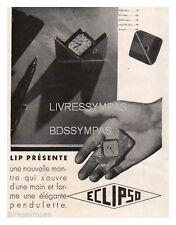 1930 DOCUMENT (ref Lli) PUB : MONTRE LIP ECLIPSO  1page