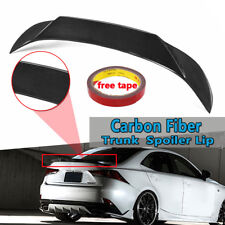 Real Carbon Fiber Rear Trunk Spoiler Lip Wing For 2014-2017 Lexus IS250 Sedan