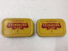 MURRAY'S ERINMORE FLAKE Pineapple Logo Pipe Tobacco Tin Container x 2pcs  #5