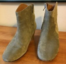Isabel Marant Ètiole Green Suede Dicker Ankle Boots Booties Size 40 / US 9.5