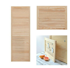 Single Louvre Door| Vented Open Slatted| Natural Pine| Wardrobe & Cabinet Doors