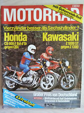 Rarität Zeitschrift Motorrad, Nr. 9 05.1979, Honda CB 900, CBX, Z1000 Z1300