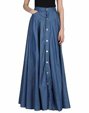 PIERRE BALMAIN Cotton Blend Button Front Maxi Skirt