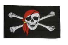 Pirat mit Kopftuch Hissflagge Piraten Fahnen Flaggen 90x150cm