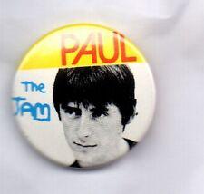 THE JAM PAUL WELLER Button Badge BRITISH PUNK ROCK MOD REVIVAL BAND  PIN BADGE