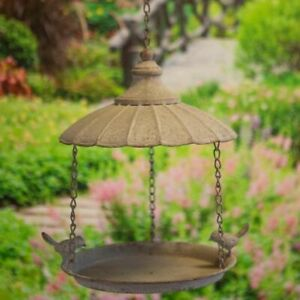 New - Metal Vintage Style Parasol Bird feeder - 24cm - Garden Bird Feeder