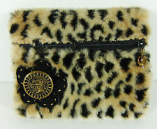 Faux Fur ID Credit Card Holder Zipper Purse Animal Print Change Wallet