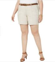 Leyden Womens Berkshire Tie-Waist Pleated Daytime Shorts BHFO 7373
