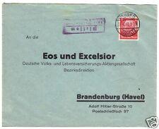 Landpoststempel, Poststelle II, Plessow über Werder (Havel), Werder, 27.4.40
