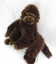 Vintage FAO Schwarz Gorilla Stuffed Plush Brown Long Hair Floppy Large Monkey ❤