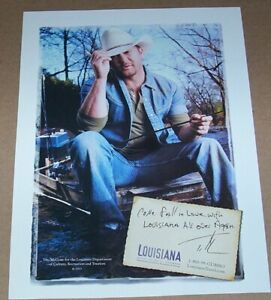 2007 print ad -Louisiana travel tourism TIM McGRAW fishing vacation advertising