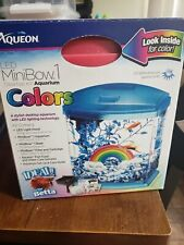 New listing Aqueon Led MiniBow Pink Glitter Desktop Aquarium Kit 1 Gallon