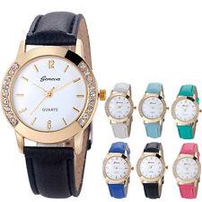 Fashion Women Classic Diamond Analog Leather Quartz Wrist Watch Watches