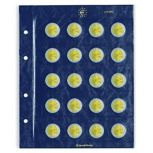 Leuchtturm 312494 Hojas para monedas VISTA, de 2 Euros