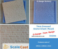 O gauge DRESSED STONE SHEET MOULD - OGD06 - for Model Railways in O Scale