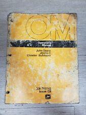 John Deere Jd450 C Crawler Bulldozer Operators Manual Om T62742 Issue C8 A7