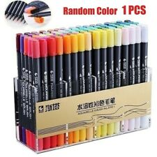 1PCS 80 Colors Dual Tip Brush Marker Painting Water Color Pen (Random Color)