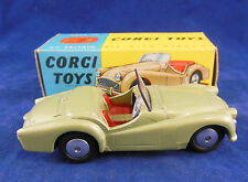 Corgi 305 Triumph TR3 Sports Car in Green Flat Hubs Original and Superb