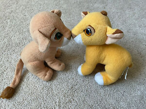 The Lion King Simba and Nala Kissing Cubs Plush 1993 Authentic Disney Magnetic