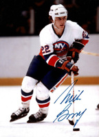 Mike Bossy signed autographed photo! RARE! AMCo Authenticated!