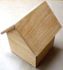 Doghouse Pet Urn Made from Solid Red Oak Wood For a Dog Up To 65 lbs