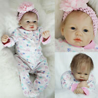 "22"" Reborn Baby Dolls Vinyl Silicone Realistic Newborn Toddler Girl Doll Gifts"