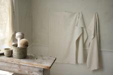 Set of 3 Antique Monogrammed European Linen Towels Mismatched & Rustic