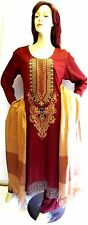 Shalwar kameez eid pakistani designer salwar sari abaya hijab red suit uk 12