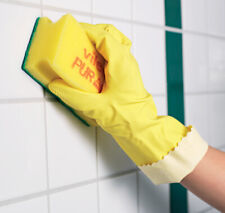 VILEDA Professional Rubber Gloves Flock Lined Household Cleaning Large Yellow