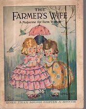 1927 Farmer's Wife April - J G Scott; Galli Curci; Oklahoma 4-H clubs; Rockwell
