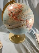 "Vintage Replogle World Nation Series 12"" Globe LeRoy Toman Raised Relief USSR"