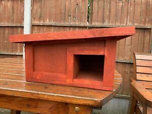 wooden predator proof hedgehog house