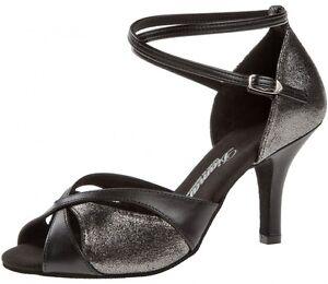 Diamant Tanzschuhe 141-058-420 offene Sandalette Tango, Salsa Latein 7,5 cm hoch