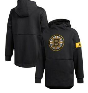 Adidas NHL Boston Bruins Hooded Hockey Pullover Mens Sizes New $70