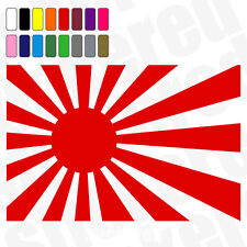 2 x JAPAN RISING SUN FLAG JDM CAR VAN WINDOW STICKERS DECALS 100mm 10cm WIDE