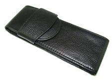 A4 Double Pen Leather Case Top Washed Cowhide
