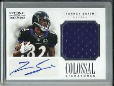 Torrey Smith 2012 National Treasures Autograph Game Used Jersey #03/10