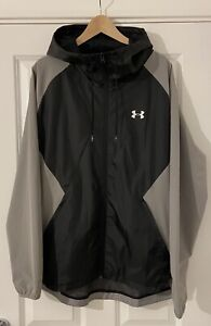Mens Under Armour Stretch Woven Hooded Jacket, Size XXL, New without Tags