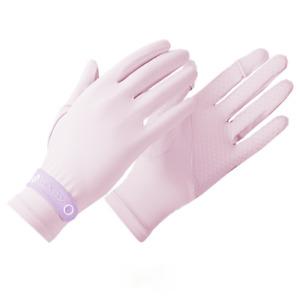1 Pair Women Anti-UV Ice Silk Gloves Sunscreen Touch Screen Non-slip Mittens