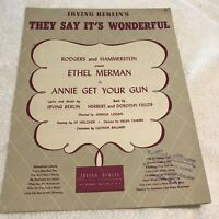SH036 They Say It's Wonderful  By Irving Berlin c1946 Sheet Music