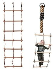 DOUBLE ROPE LADDER - 7 RUNG PP ROPE - 200 X 56CM CLIMBING FRAME, TREE ACCESSORY