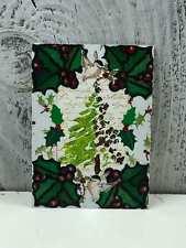 "ACEO Artist Trading Card ""Mistletoe Christmas Tree"" Stickers Glitter Made"