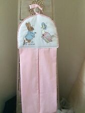 Peter Rabbit Jemima Puddleduck Nappy Stacker In Pink Shades free p&p